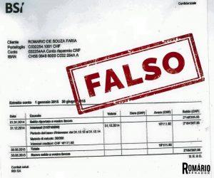 Romário vai à Suíça e mostra 'documento falso' de reportagem