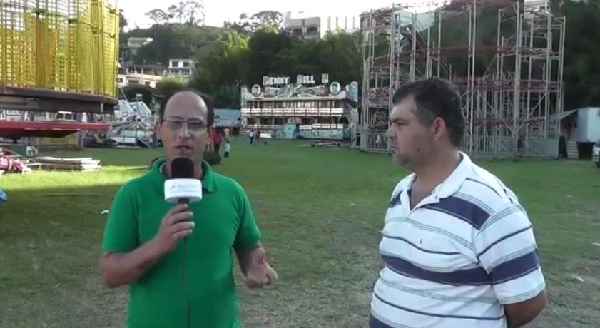 Entrevista com proprietário do Parque de diversão