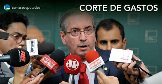 Cunha afirma que Dilma terá de cortar gastos para equilibrar contas