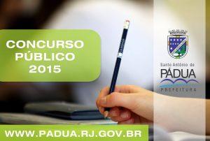 Concurso Público 2015 Prefeitura de Santo Antônio de Pádua