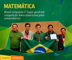 Brasil em primeiro lugar geral em competição ibero-americana de matemática para universitários