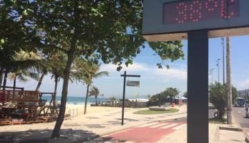 Rio tem segundo dia seguido de recorde de calor no inverno: 39°C