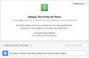 Facebook lança status para usuários avisarem que estão seguros na França