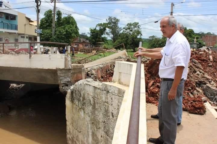 O Prefeito Josias Quintal de Oliveira visitou  o bairro Cidade Nova, onde acompanhou de perto a destruição causada pela força das águas.