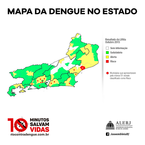 LIRAa: Mapa da dengue no estado