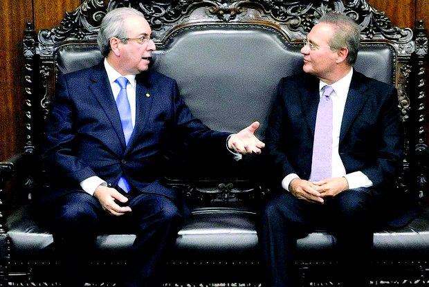 Cunha quer pressa; Renan, calma no andamento do impeachment