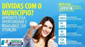 Prefeitura de Cordeiro prorroga prazo para adesão ao REFIS