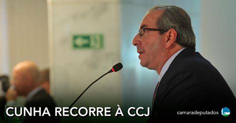 Cunha apresenta recurso contra decisão do Conselho de Ética