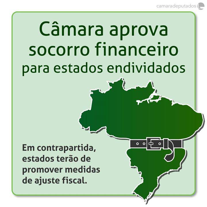 Câmara aprova texto-base do projeto de recuperação de estados endividados