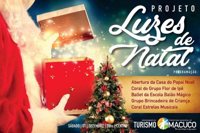 Projeto Luz de Natal vai iluminar Macuco durante os festejos natalinos