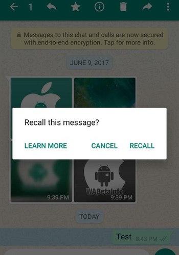 WhatsApp lança função de 'anular' mensagens enviadas