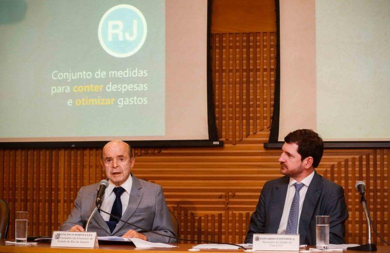 Dornelles anuncia conjunto de medidas para conter despesas e otimizar gastos