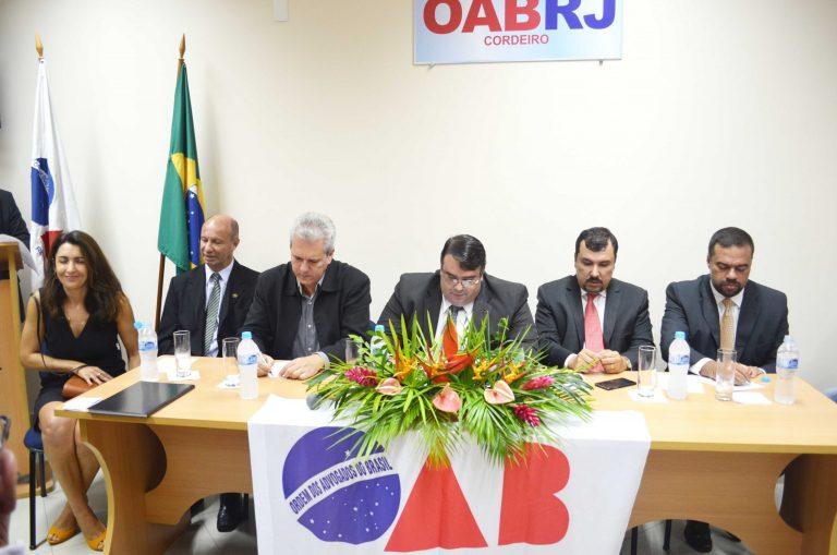 Advogados prestigiam posse da nova diretoria da 45º subseção de Cordeiro, Duas Barras, Trajano de Moraes e Macuco