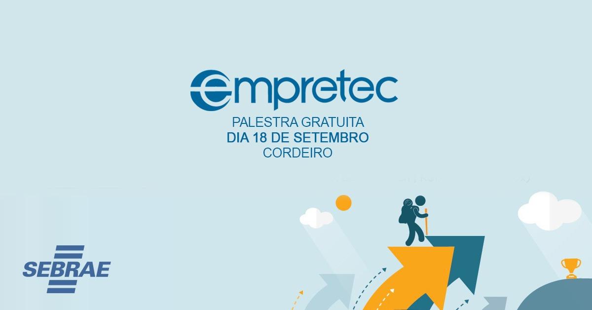 Sebrae promove, em Cordeiro, palestra gratuita para empresários que buscam aprimorar capacidade gerencial