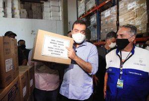 Governo do Estado dá início à distribuição de seringas para a campanha de vacinação contra Covid-19